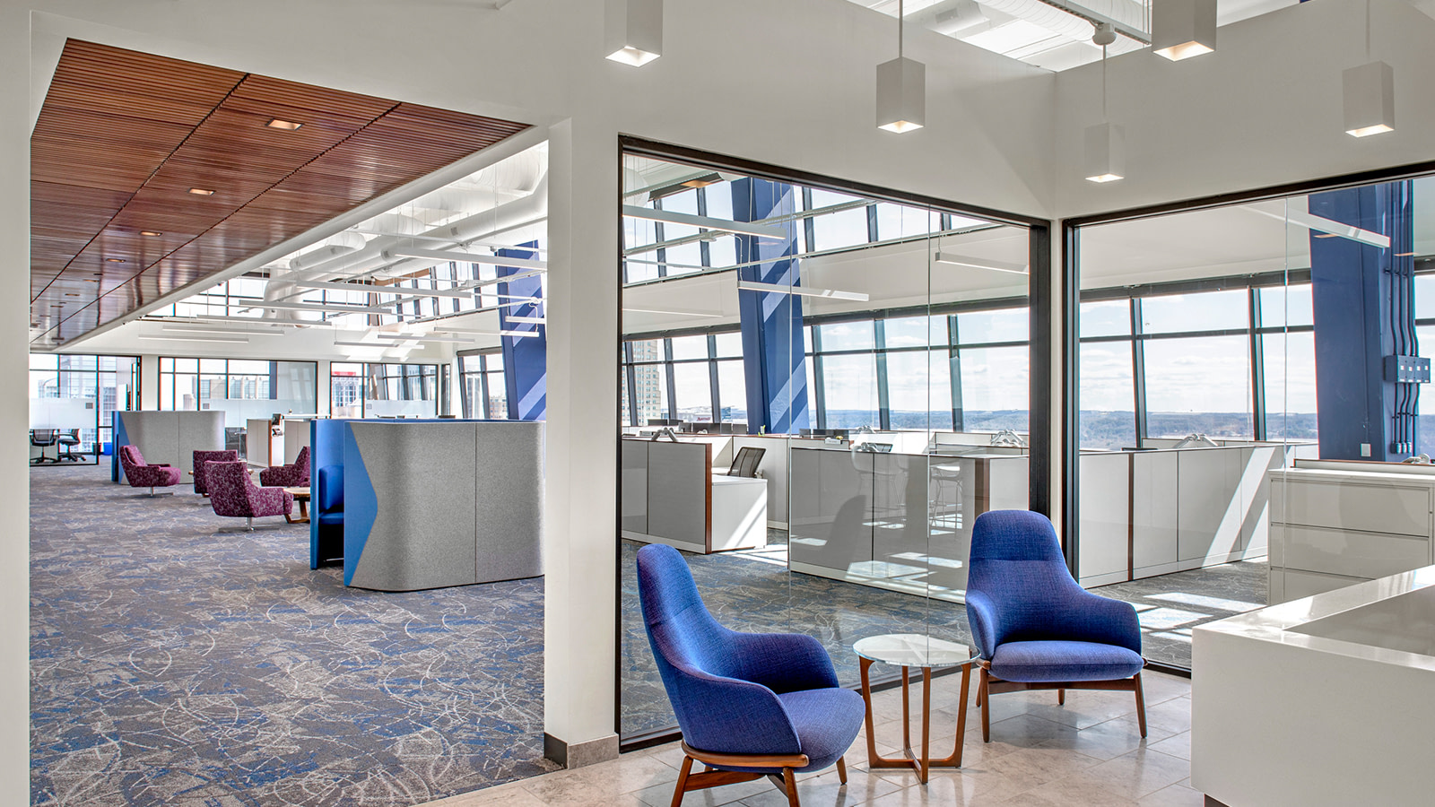 Meeting space at the Arch Insurance headquarters.