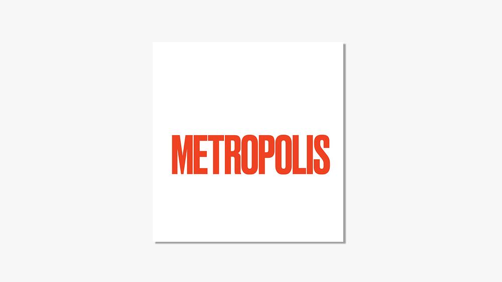 The logo of Metropolis Magazine