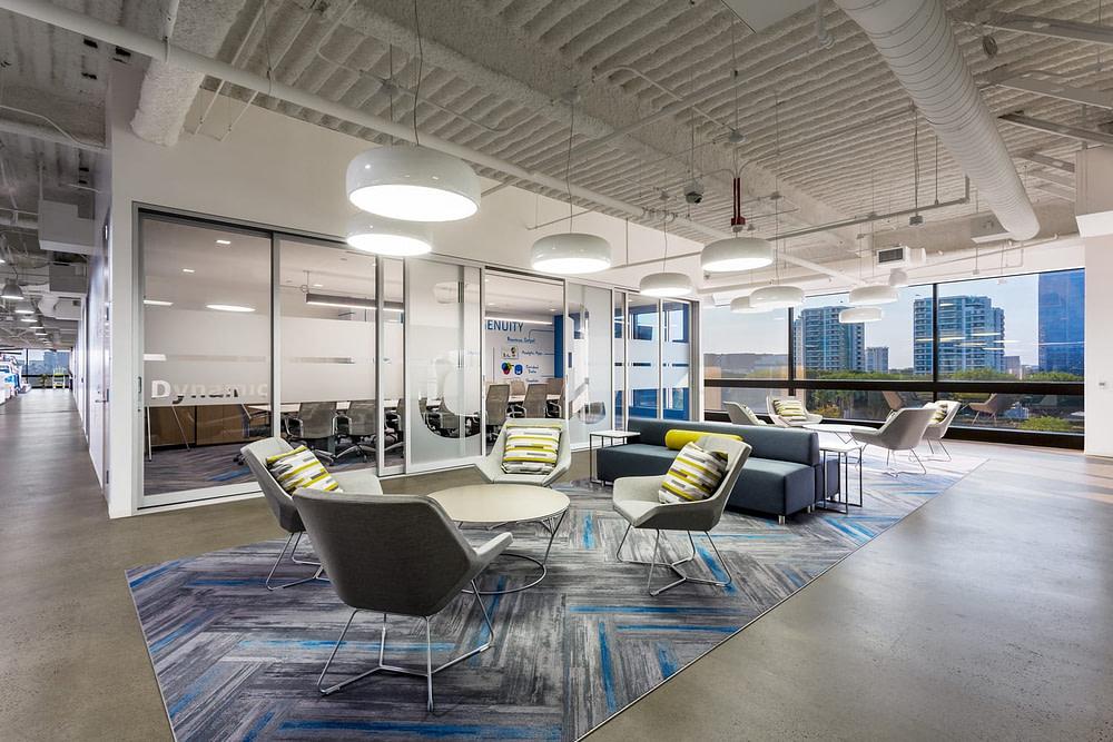 Natural light as seen through an open meeting space at Alteryx