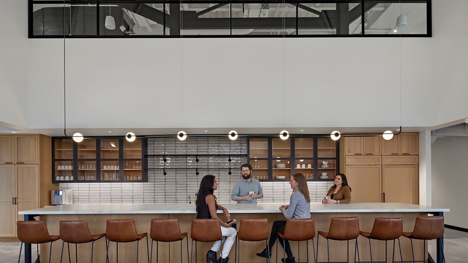 Silversmith employee-only kitchen area