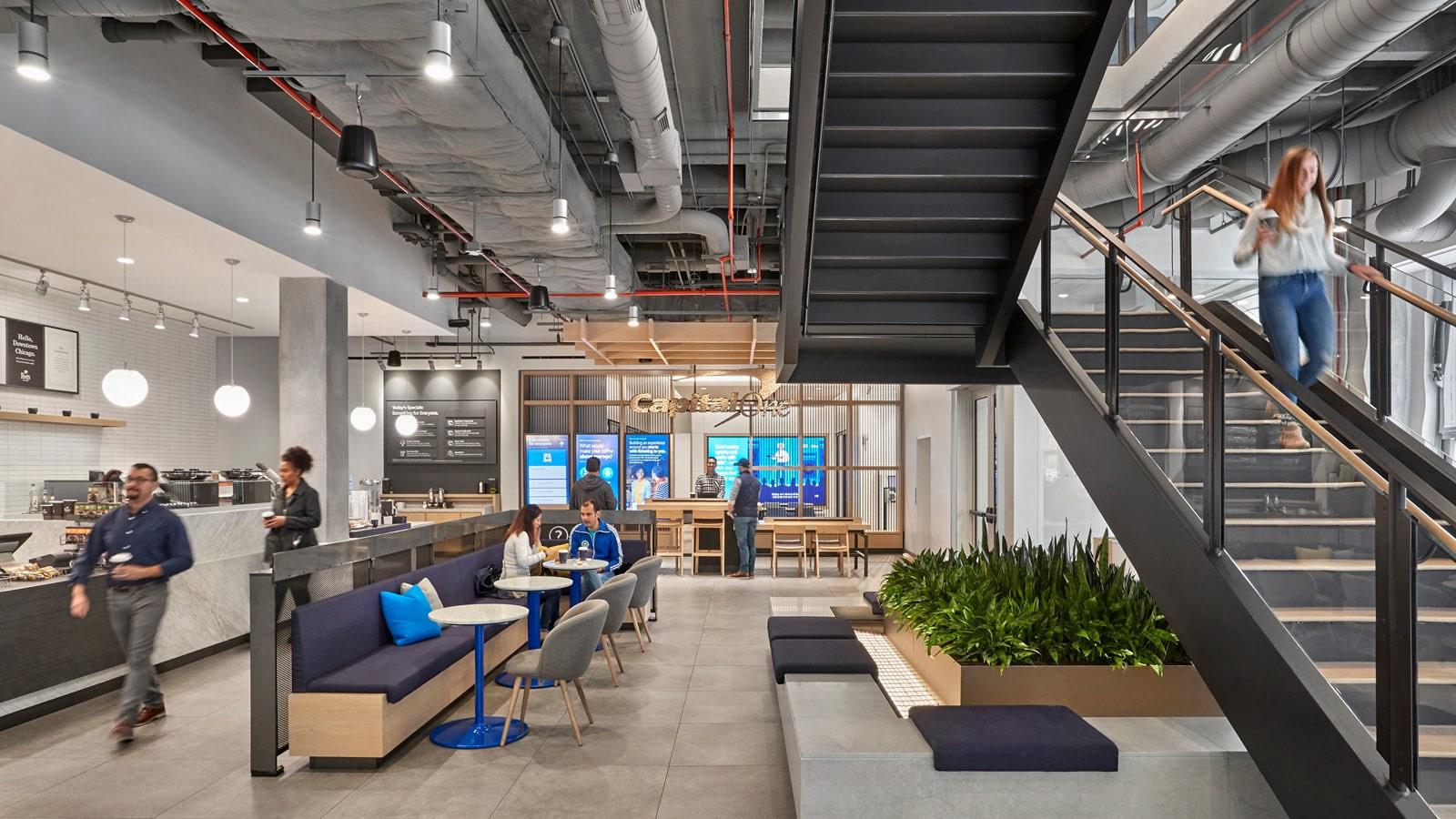 Capital One Café Stairs and Cafe