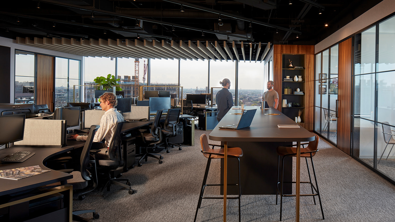 Open office space at Sterling Bay's Chicago location