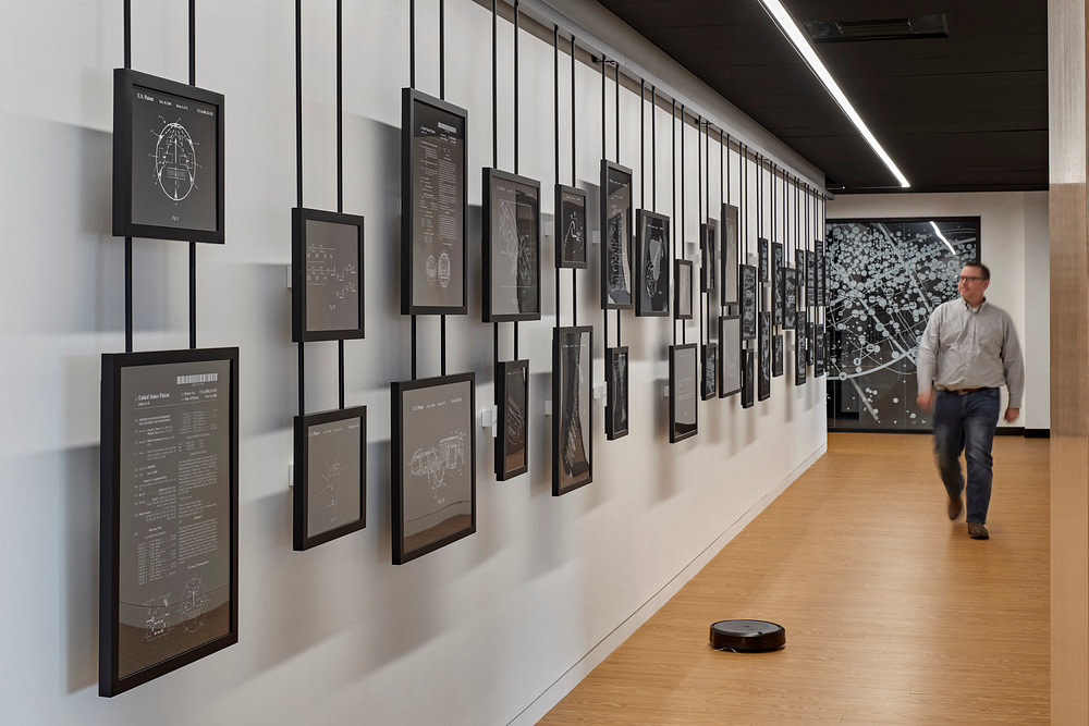 Museum wall at iRobot's Bedford headquarters
