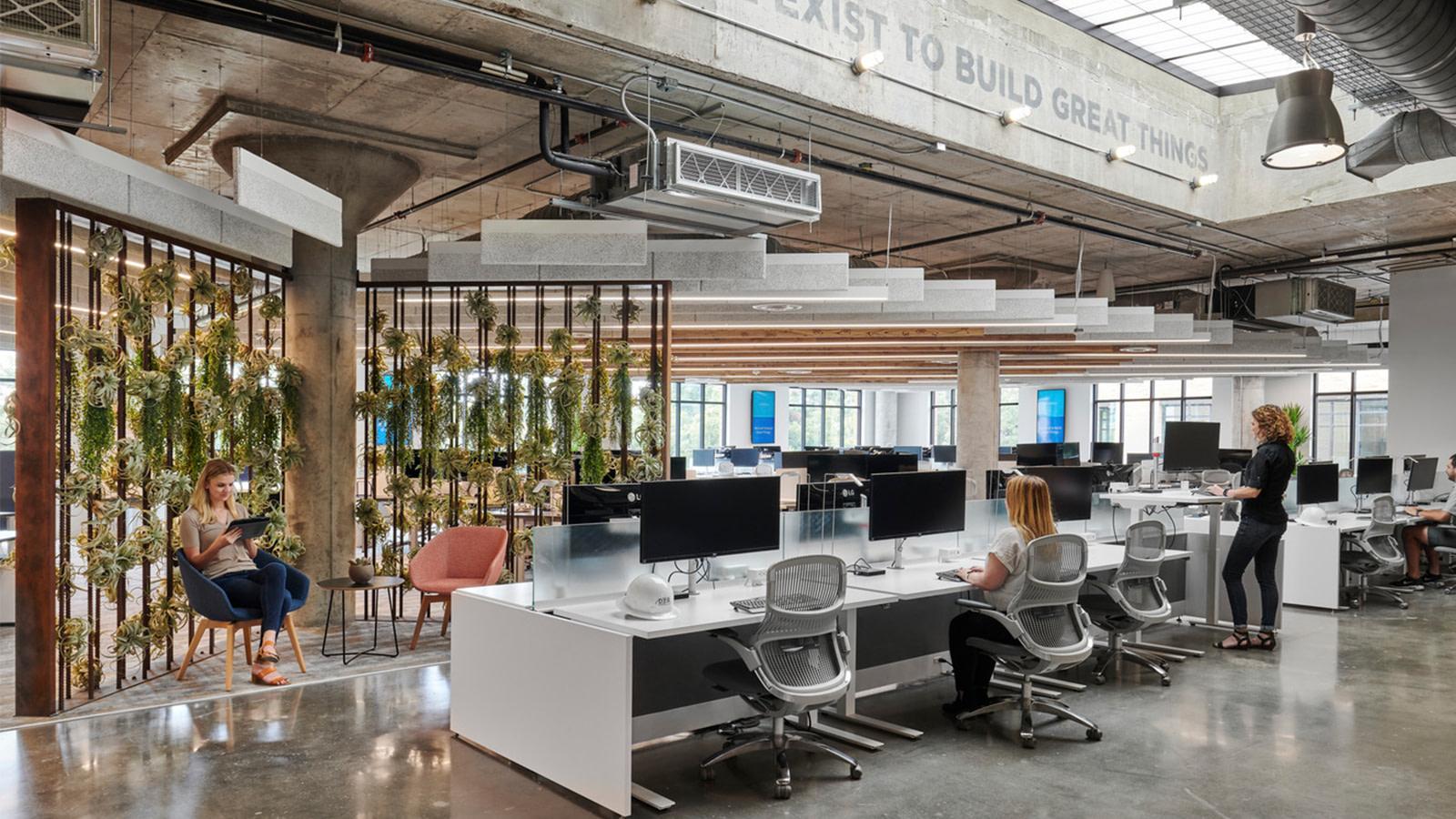 Open work area at DPR Austin