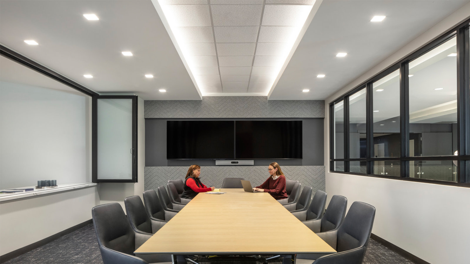The conference room of Lockton in Denver