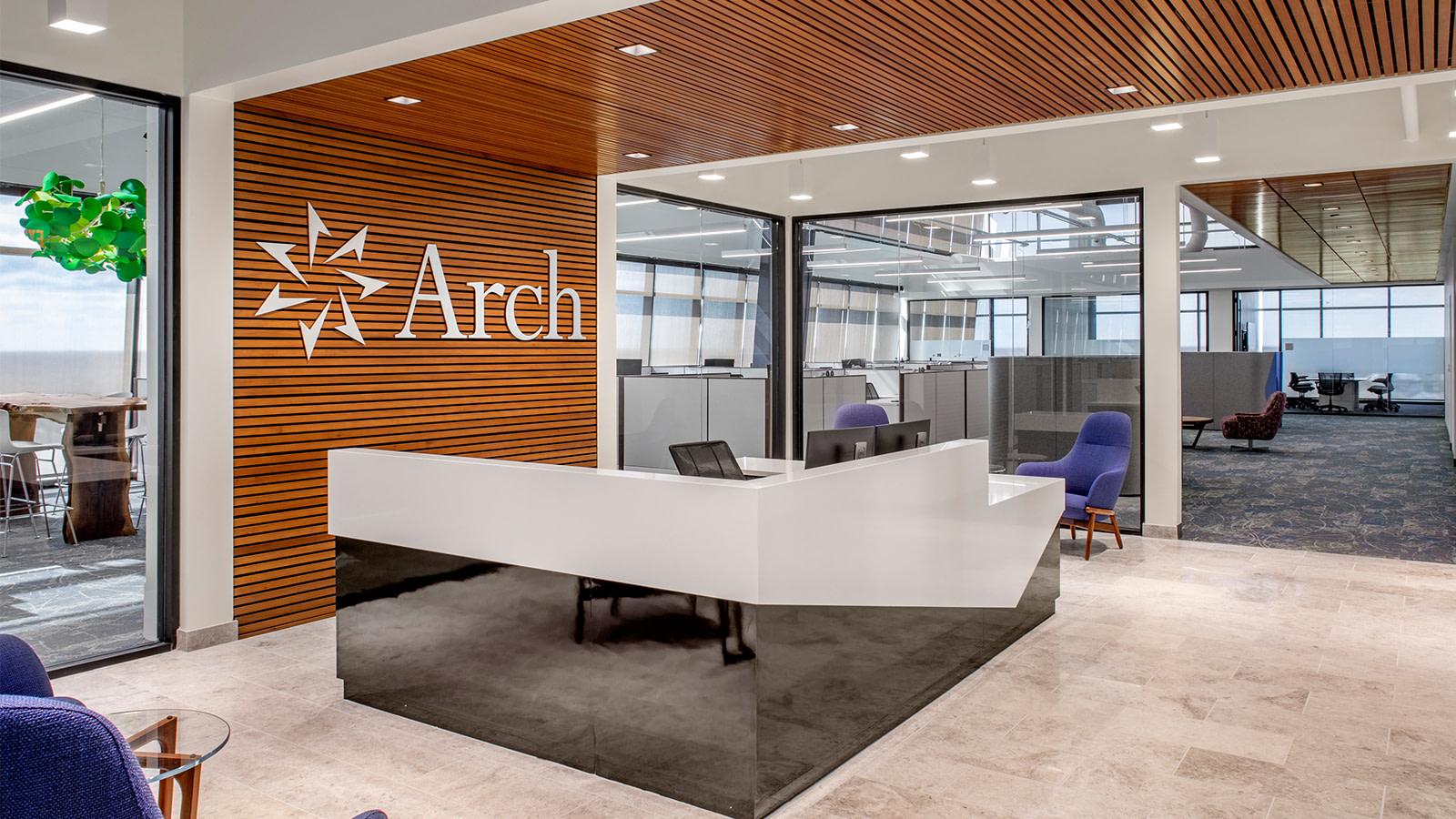 Reception area at Arch Insurance