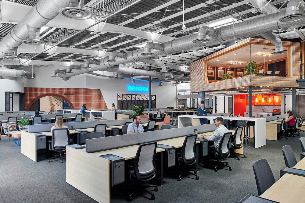 Open Office Work Area