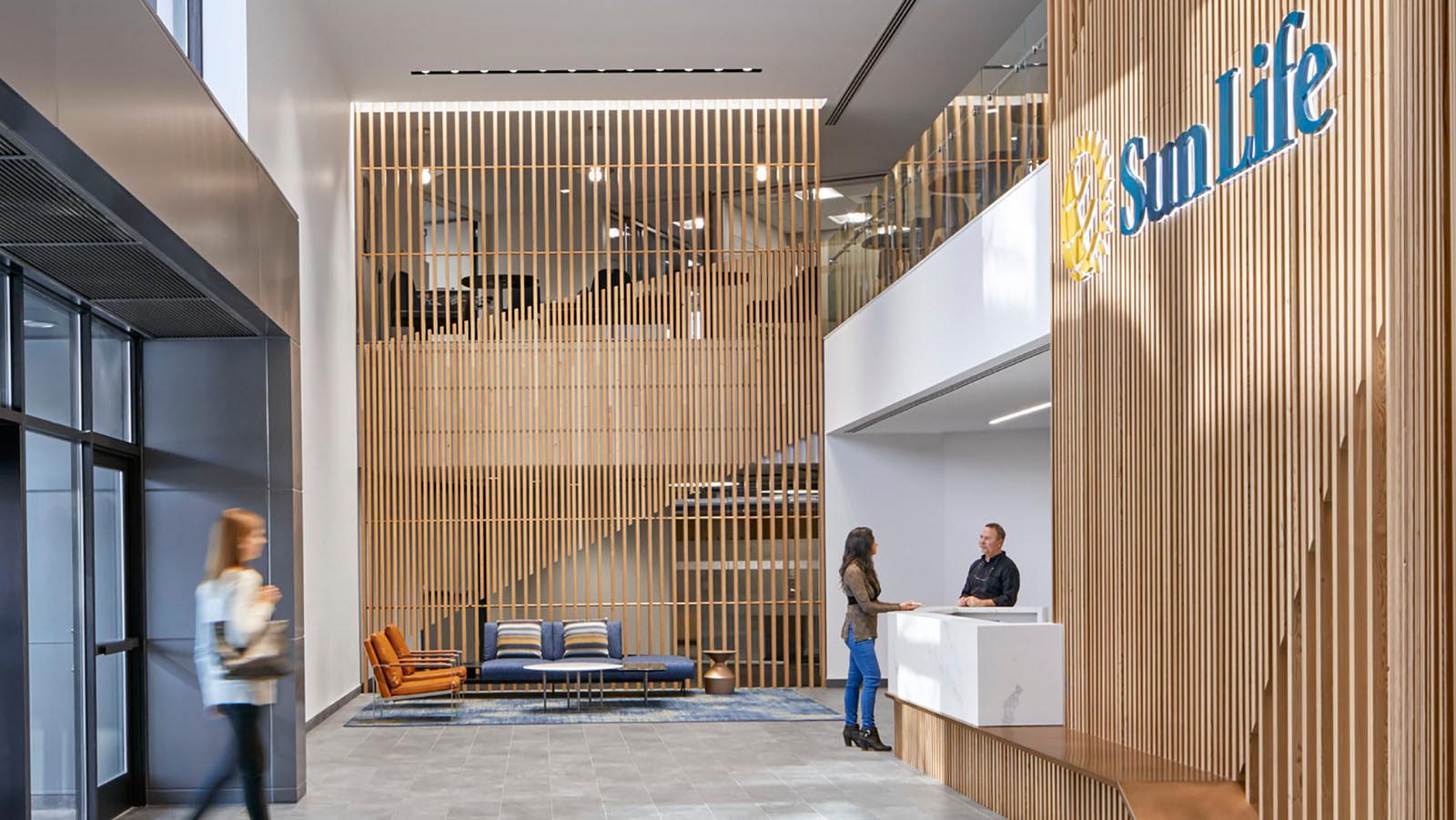 Sun Life Financial Reception area