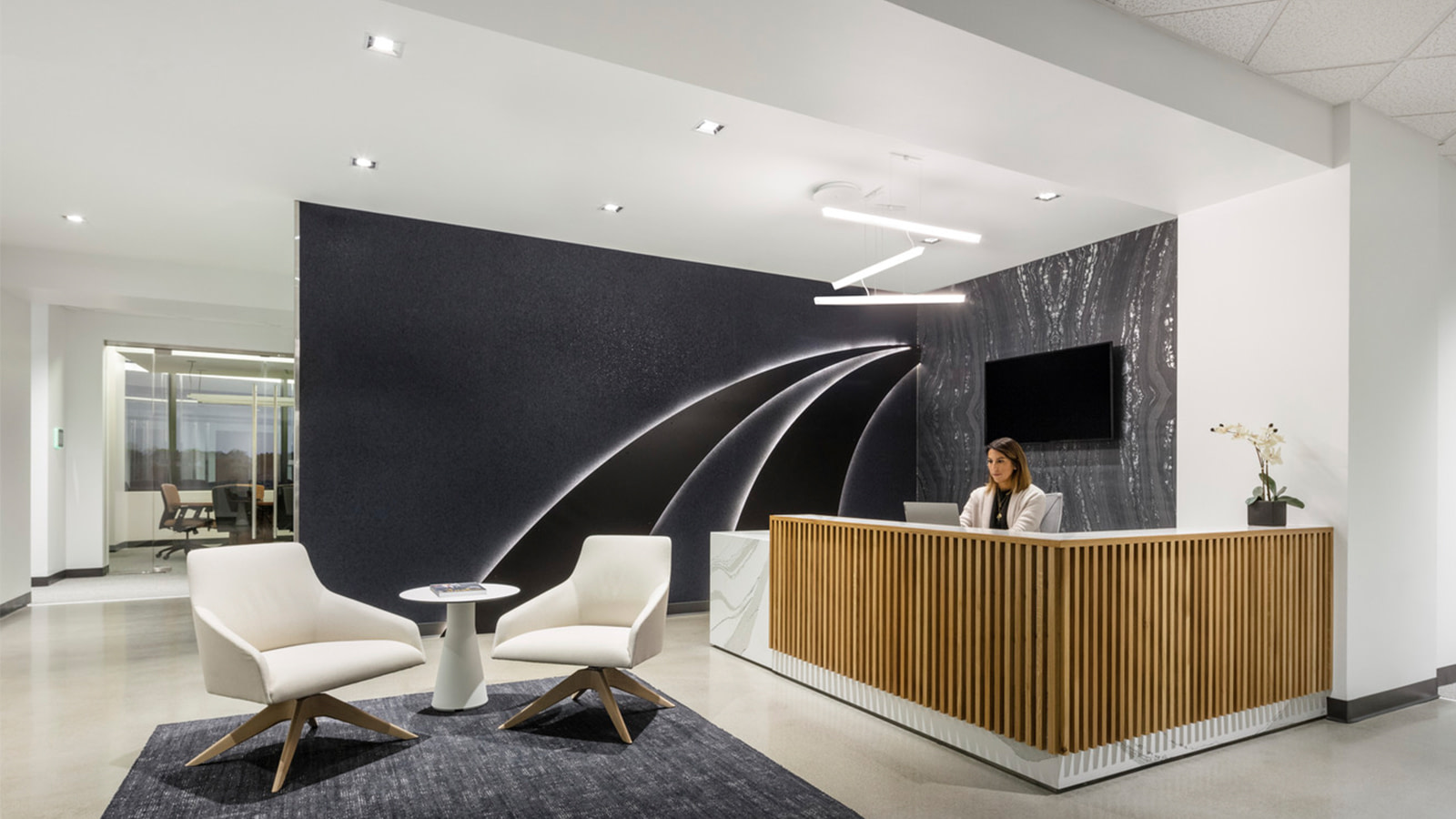 Lockton lobby front desk in Denver, Co.
