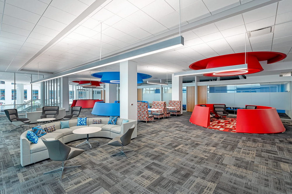 Several communal areas in the ServiceMaster headquarters