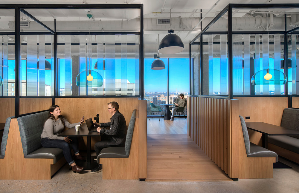 Collaboration area with a view of DC