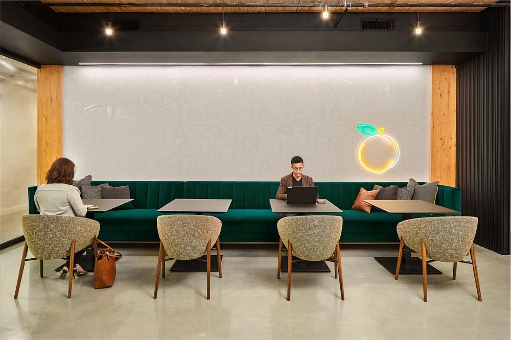 IA Interior Architects in Atlanta's peach neon