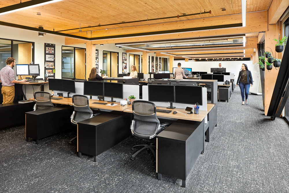 The open workplace at the IA Atlanta office.