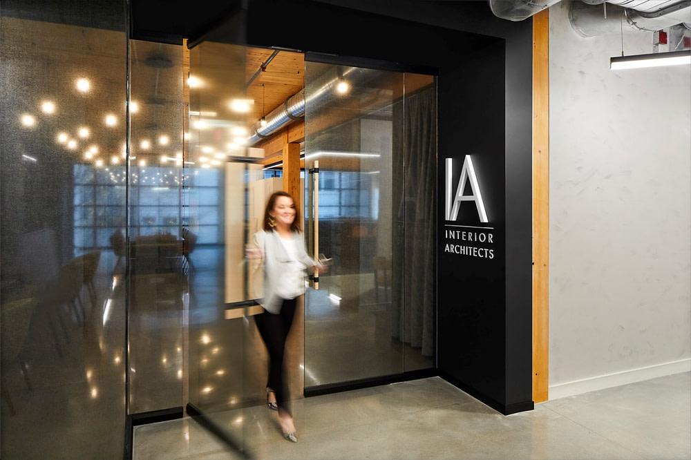 The main entrance of the IA Atlanta Studio