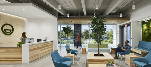 The reception area at a Miami office