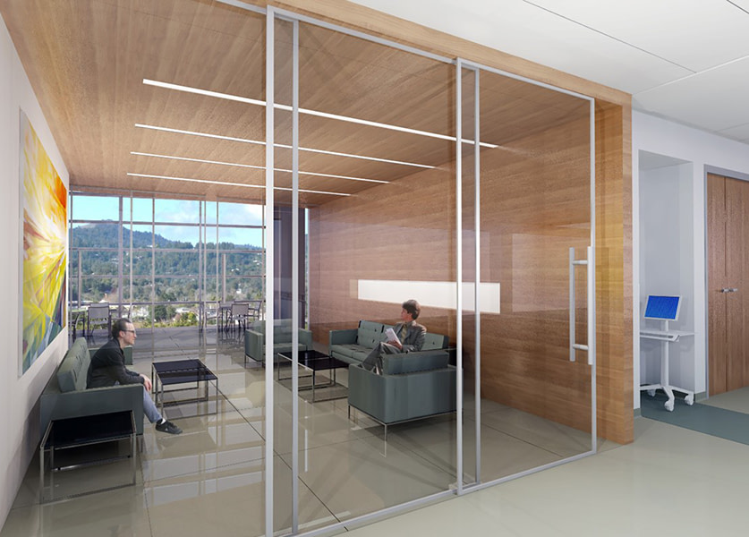 Confidential Healthcare Client. Rendering by IA Interior Architects.