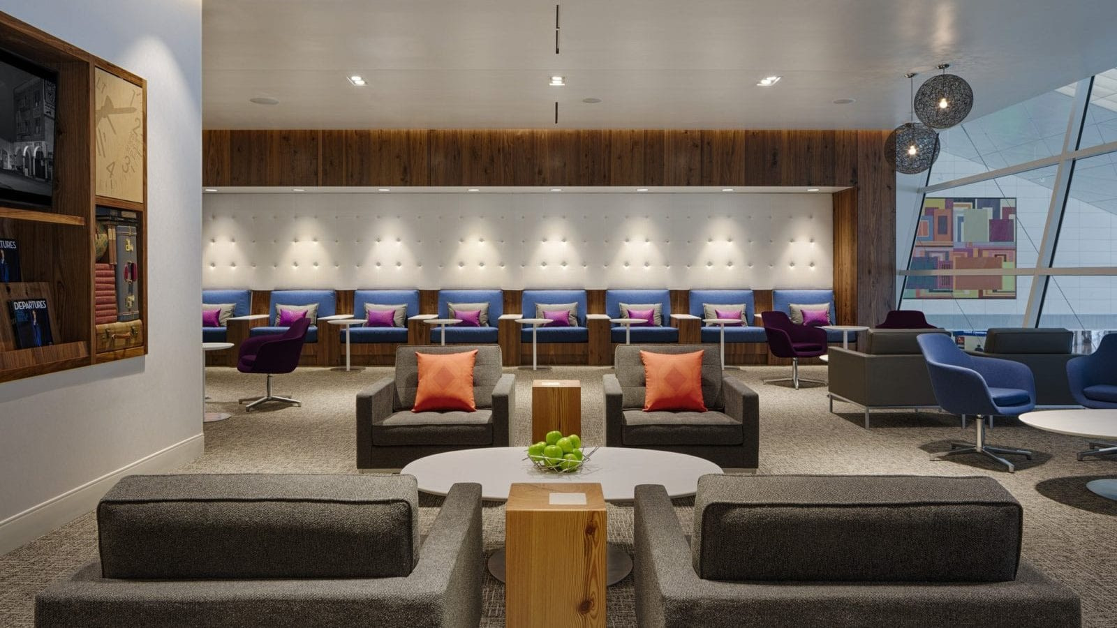 Casual Seating at the American Express Centurion Lounge
