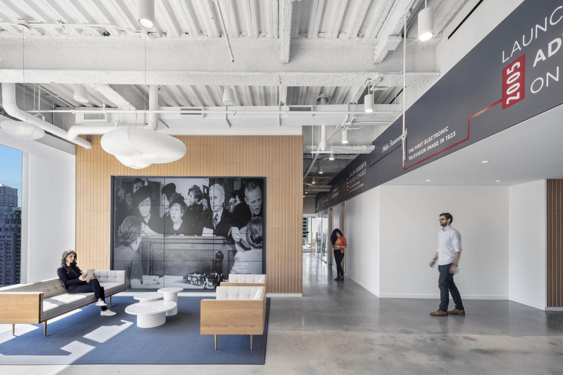 Reception area at Comcast Spotlight