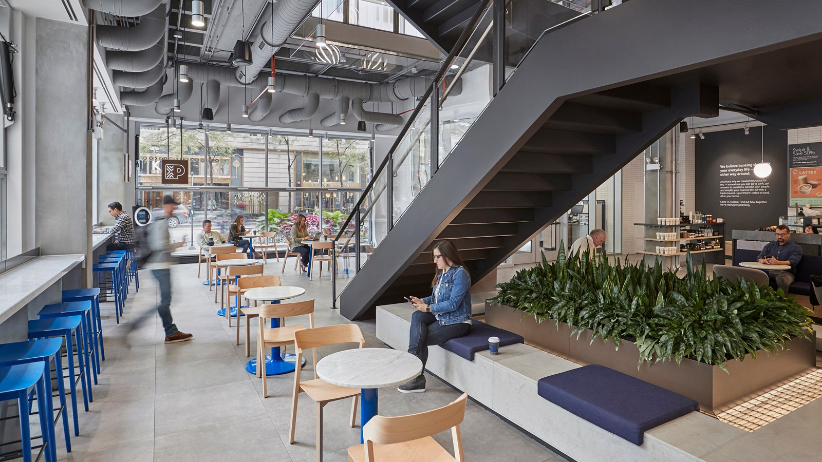 The Main Stair at Capital One Café at 100 State Street