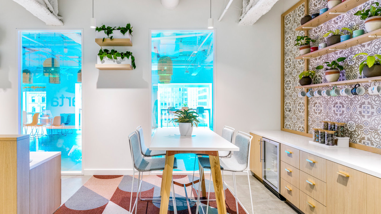 The Cafe Area at Carta's SF Headquarters