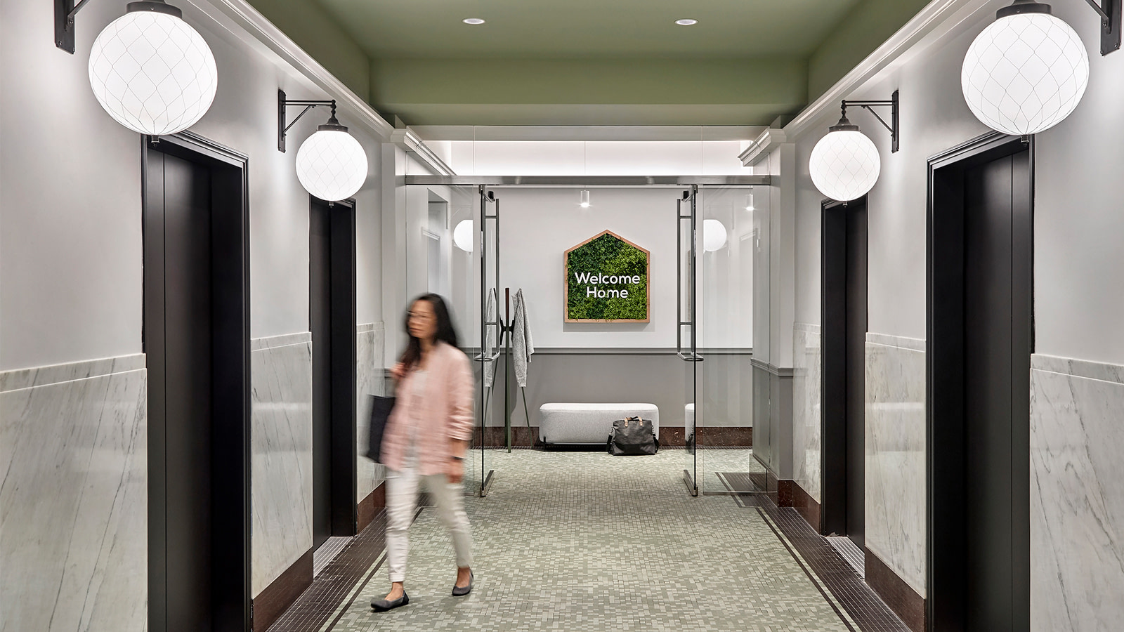The Elevator Lobby at Home Chef's Chicago headquarters