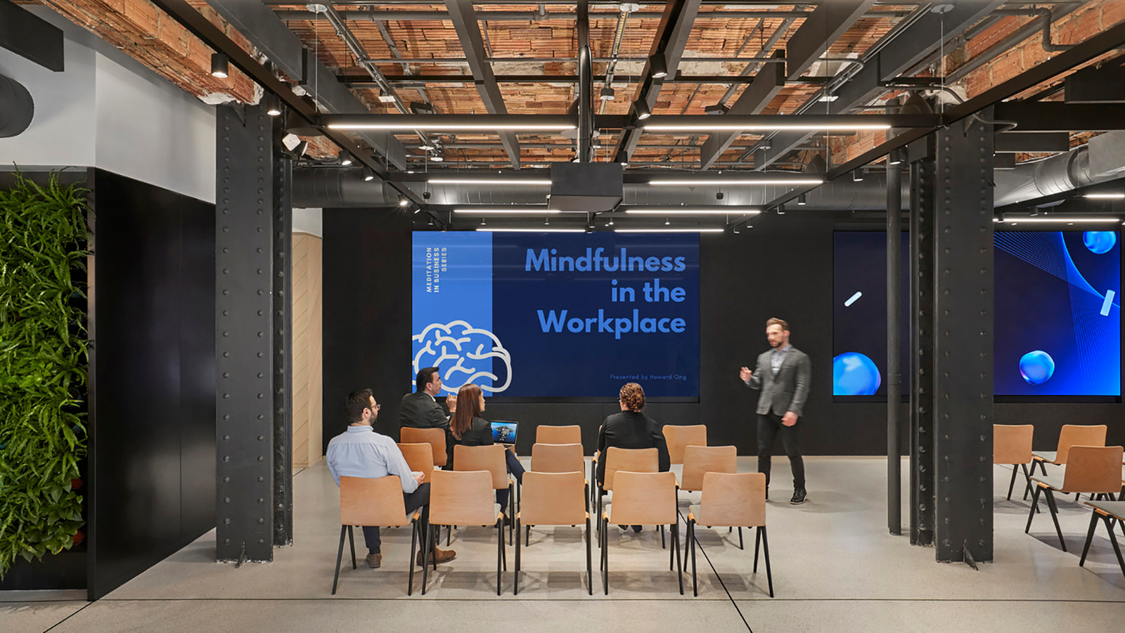 A large group presentation and meeting space in New York City