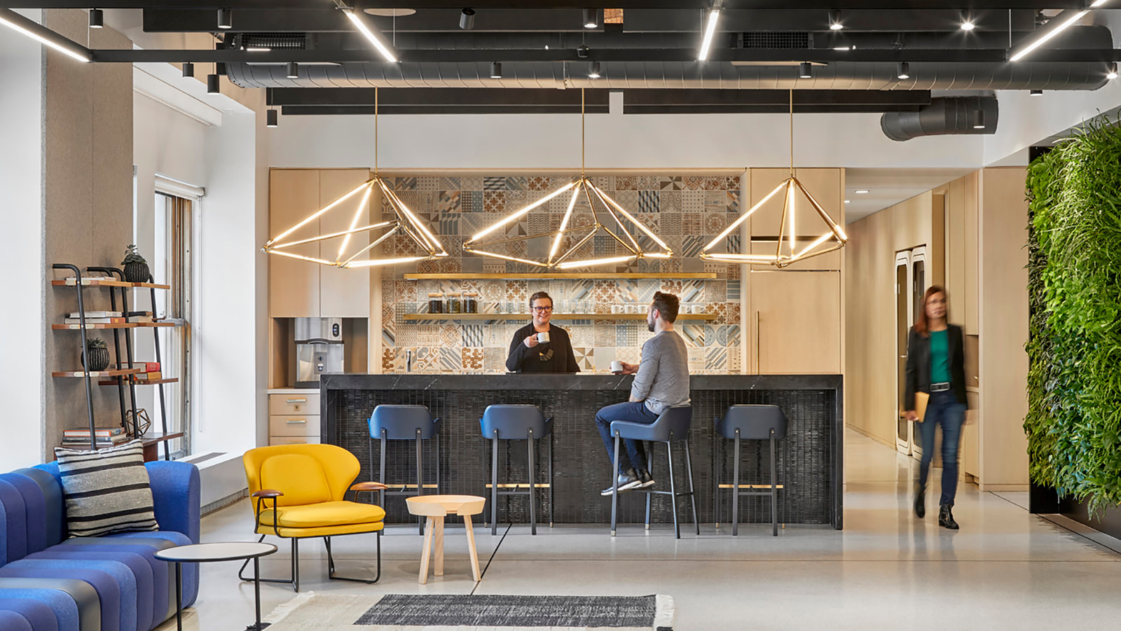 A café space at the offices of a prominent NYC business.