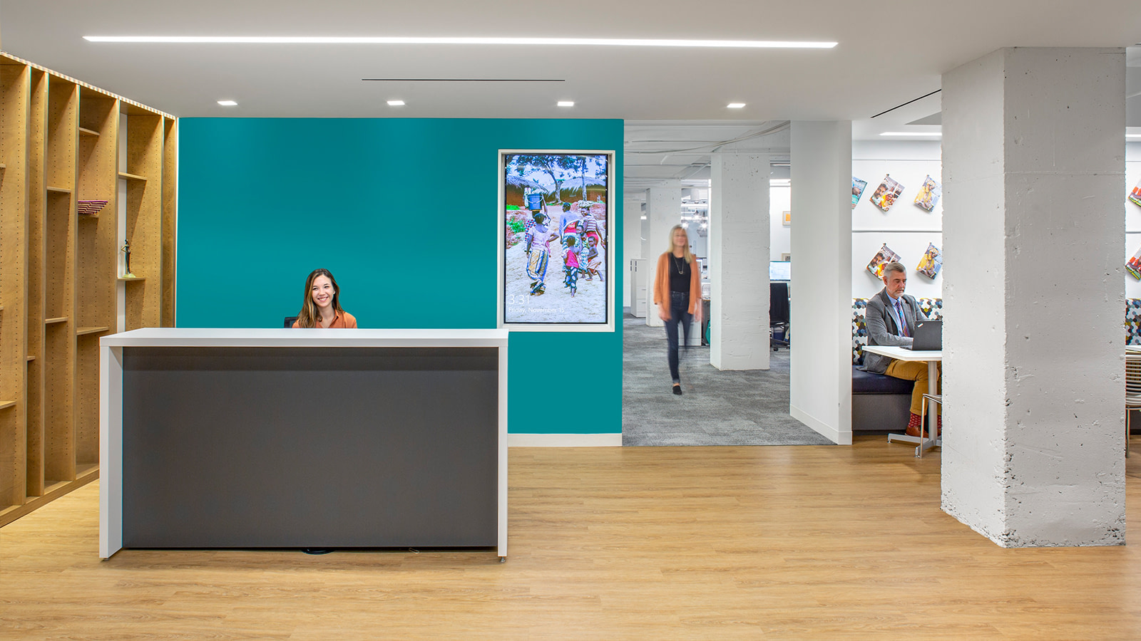 Reception area at a DC non-profit