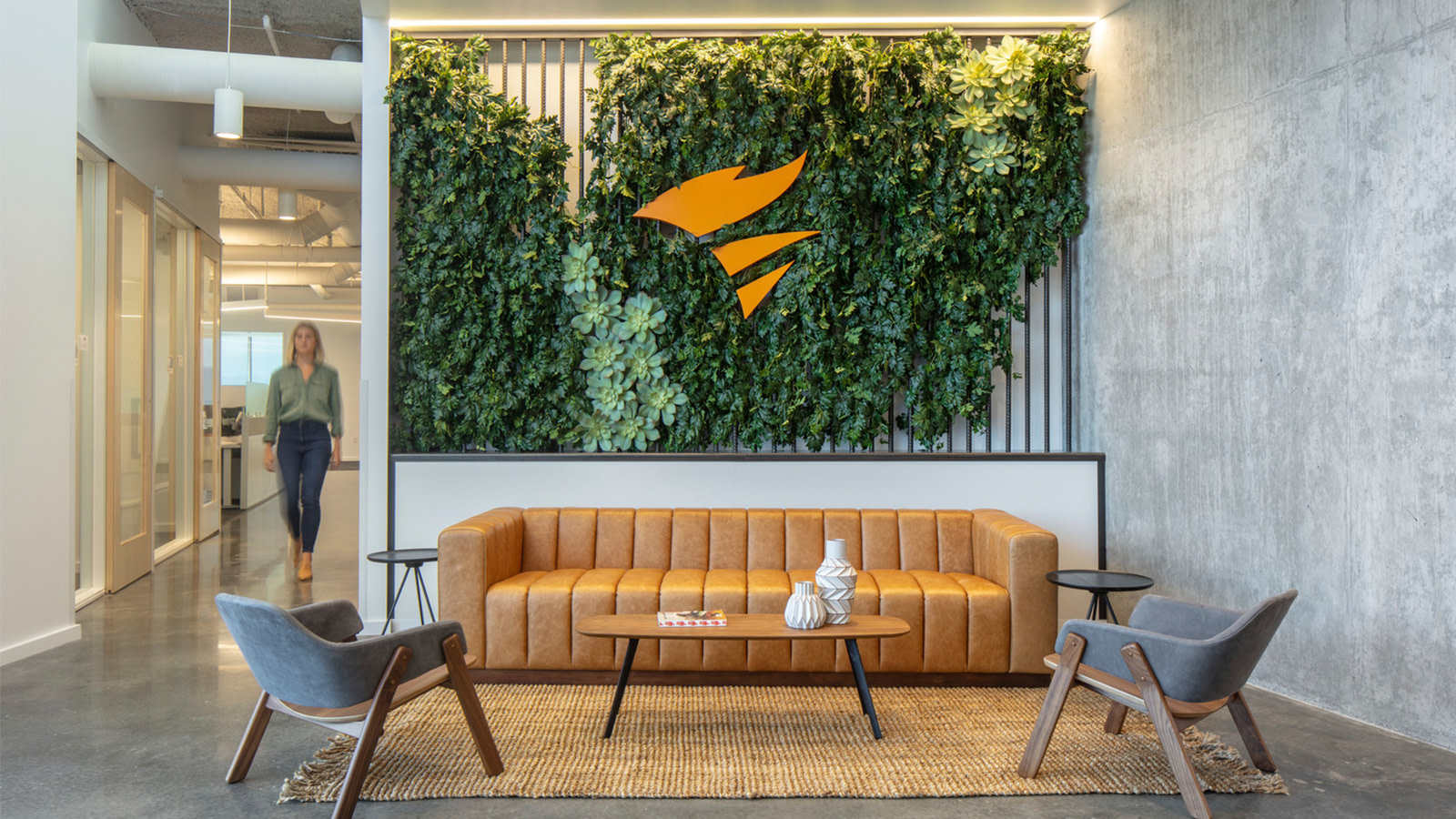 A biophilic display at the SolarWinds