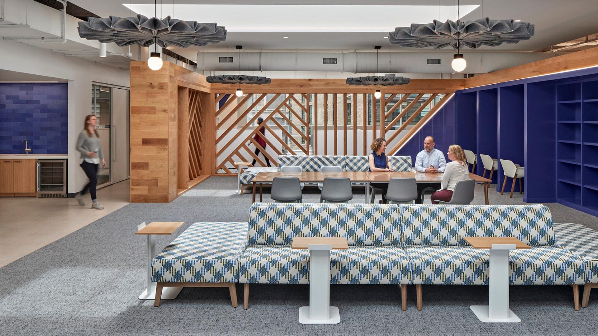 Group collaboration zone in a Boston tech company