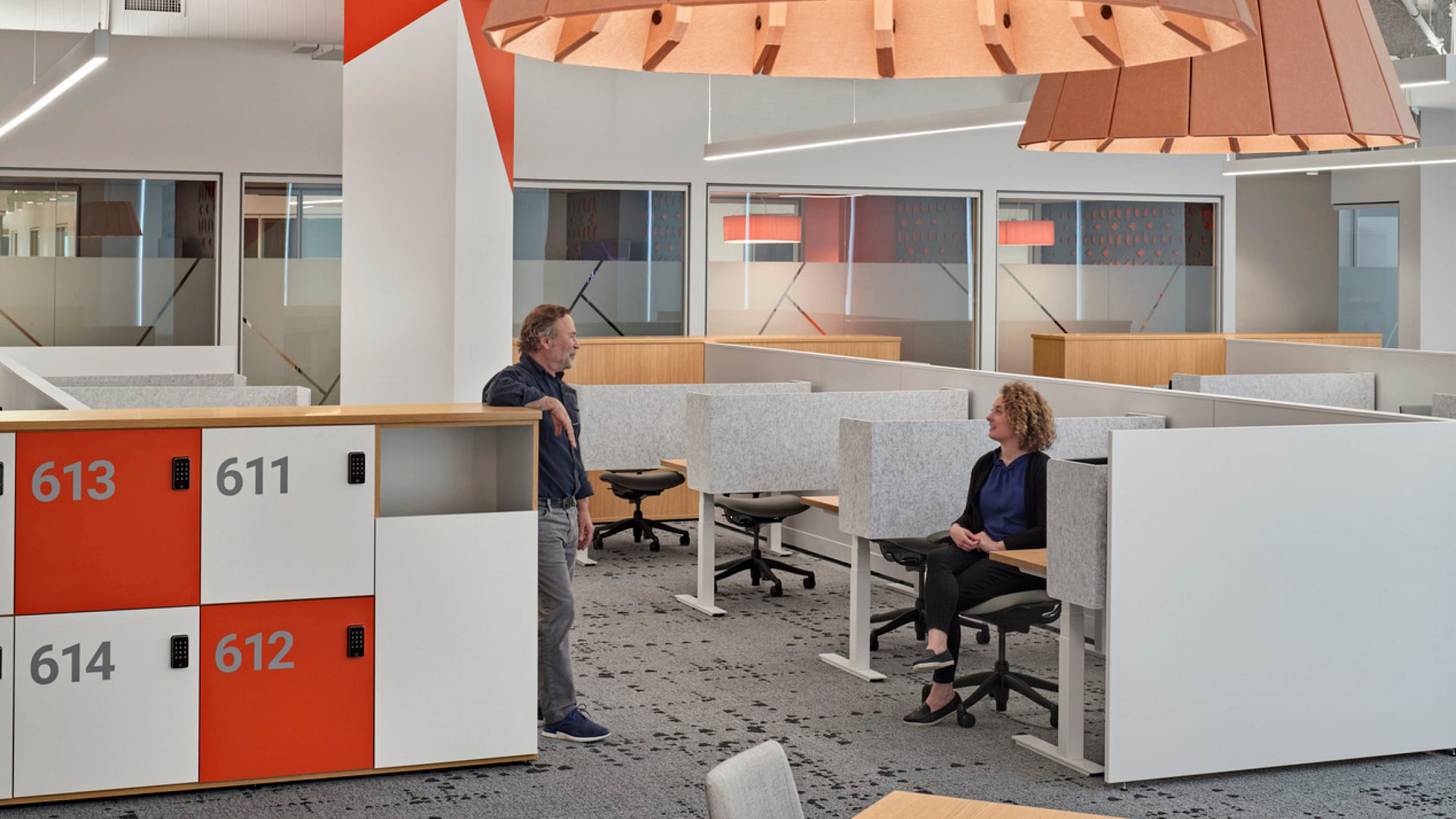 The open office at Verisk's Boston offices