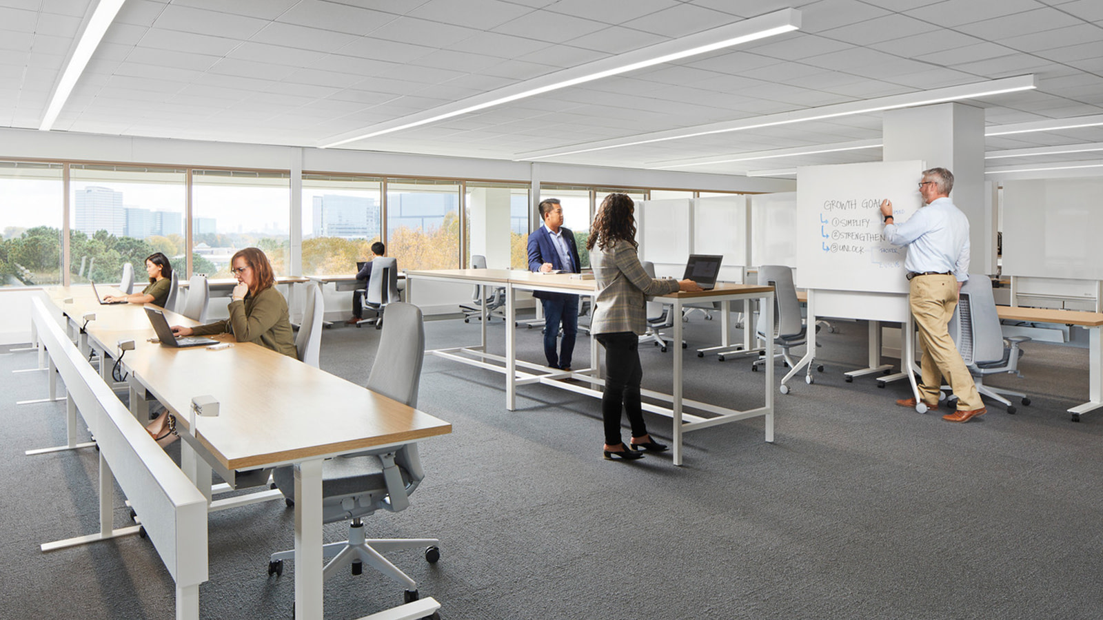 Open office space at Acoustic