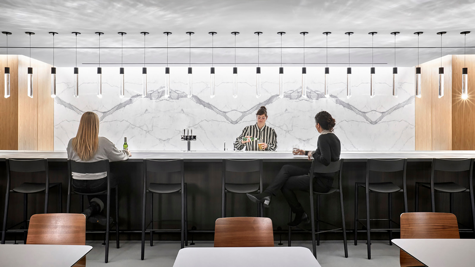 Bar and cafe space at RSM Chicago