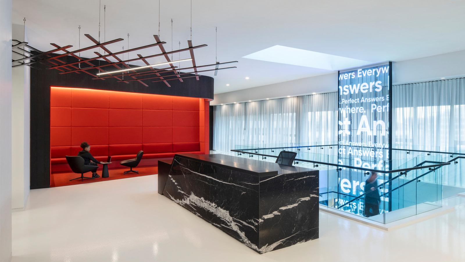 Yext reception area