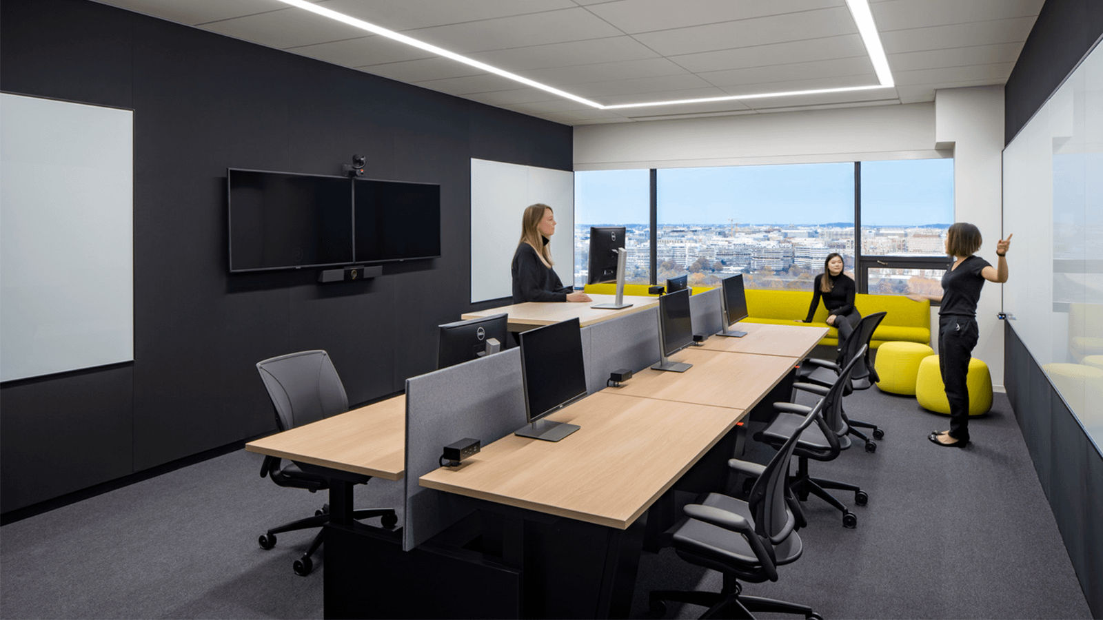 Yext's offices feature many spaces for collaboration.
