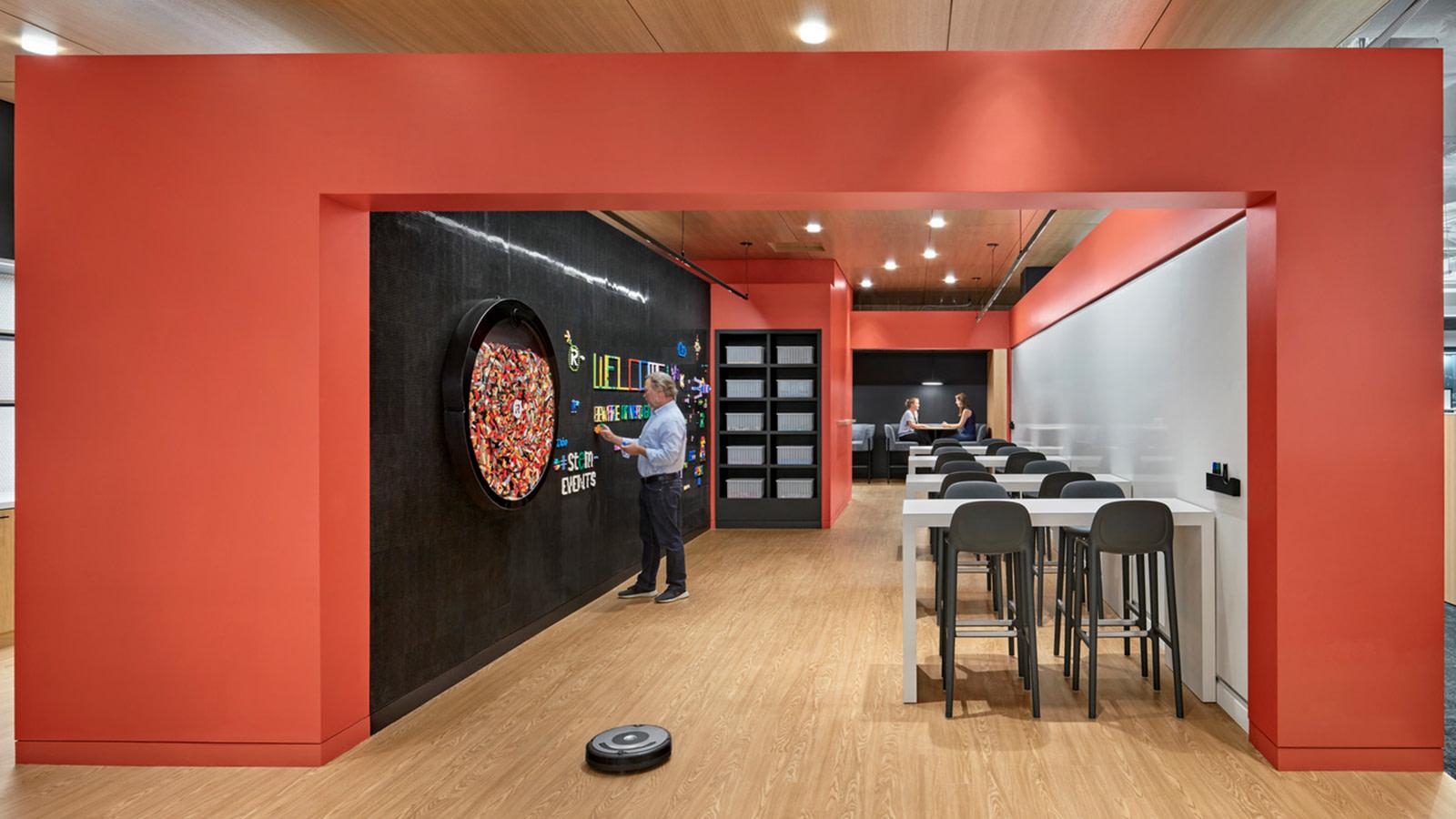 Interactive wall at iRobot's headquarters