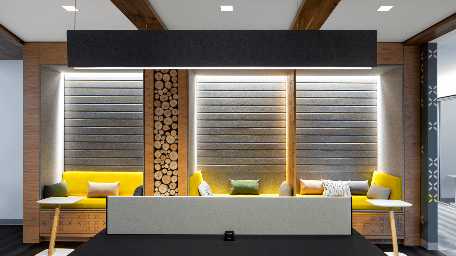 Acoustic partitions provide sound absorption in McLean, Virginia