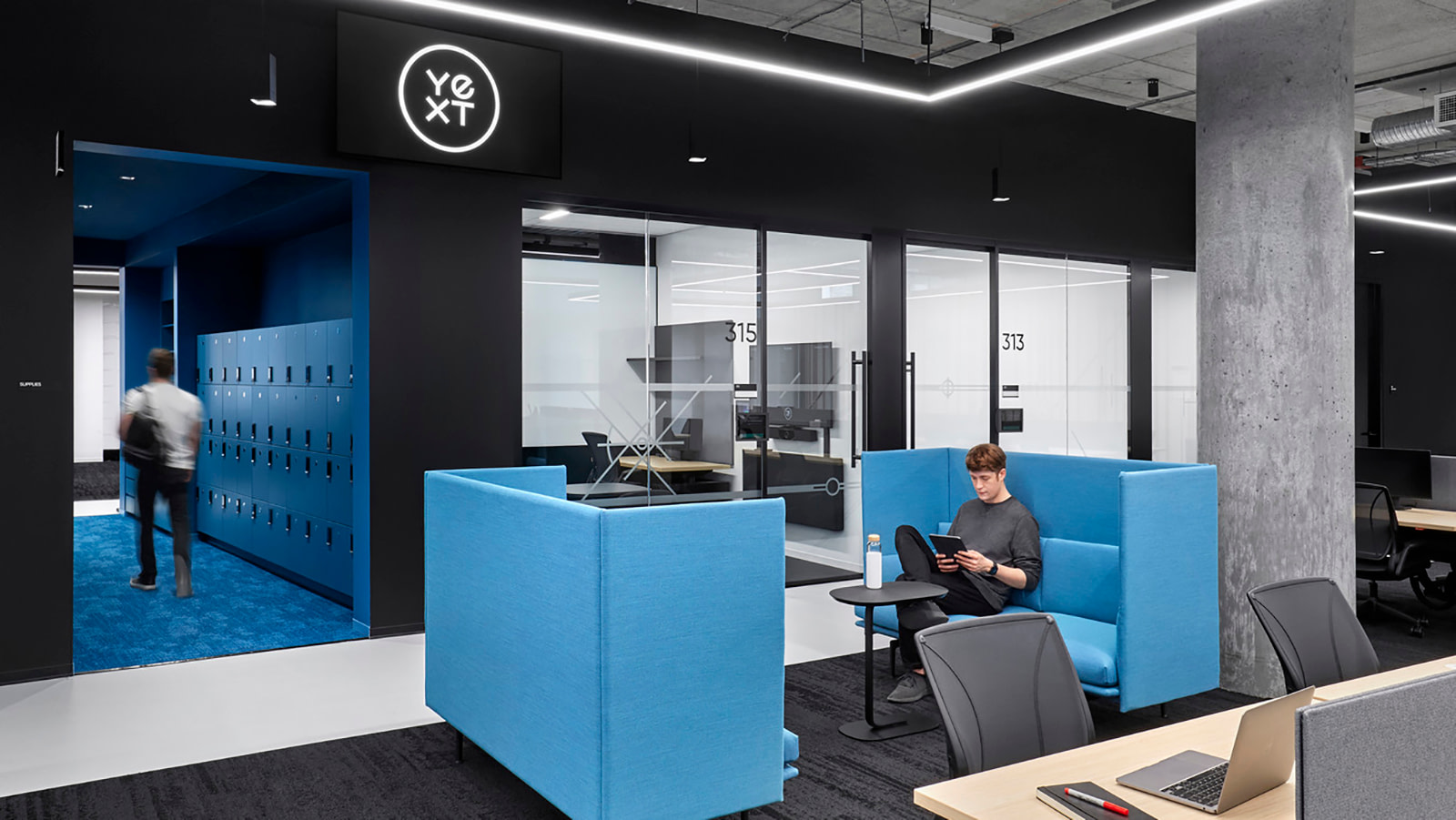 Close seating area at Yext NYC